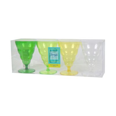 Set De Copas De Helado Casa Ideal / 4 Piezas