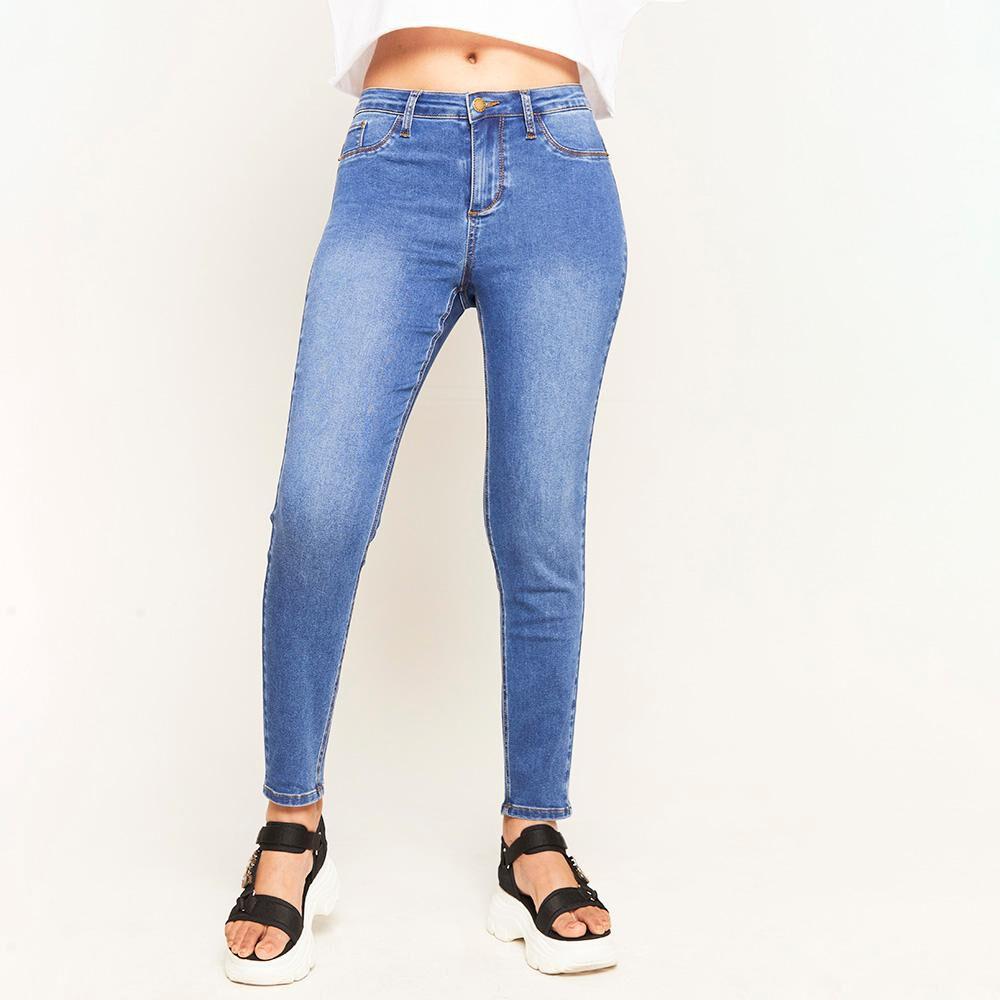 Jeans Básico Tiro Alto Super Skinny Mujer Rolly Go image number 0.0