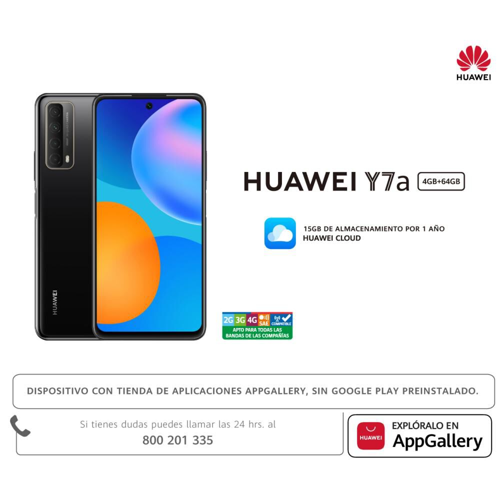 Smartphone Huawei Y7a / 64 Gb / Claro image number 9.0