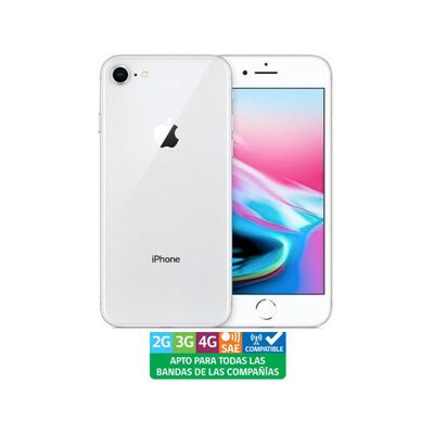 Smartphone Apple Iphone 8 Reacondicionado Plata / 256 Gb / Liberado