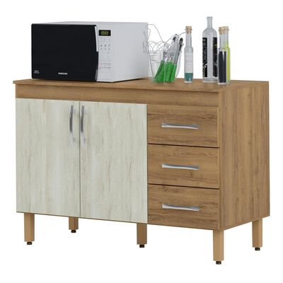 Mueble De Cocina Home Mobili Kalahari/montana / 2 Puertas / 3 Cajones