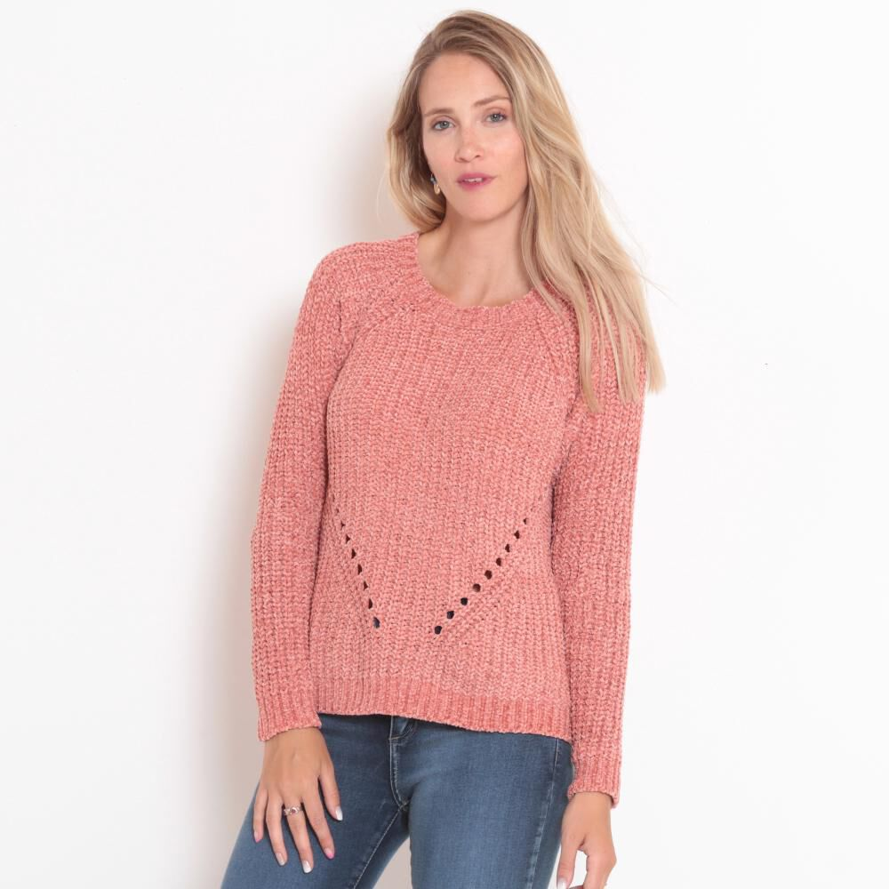 Sweater Tejido Cuello V Mujer Wados image number 0.0