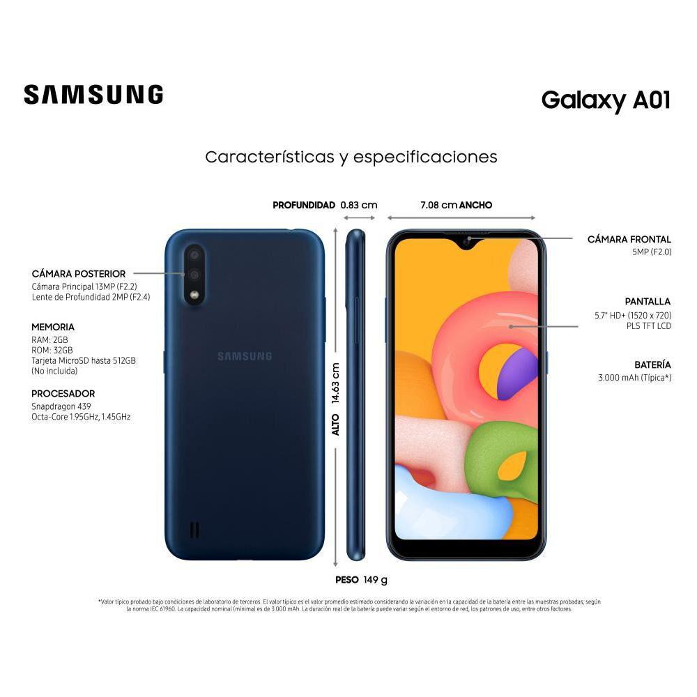 Smartphone Samsung A01 Azul / 32 Gb / Liberado image number 7.0