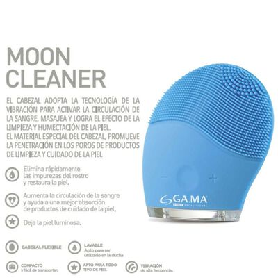 Masajeador Facial  Gama Cleaner Moon Bl + Body Lotion