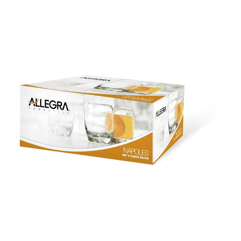 Set De Vasos Whisky Bajo Allegra Napoles / 6 Piezas image number 1.0
