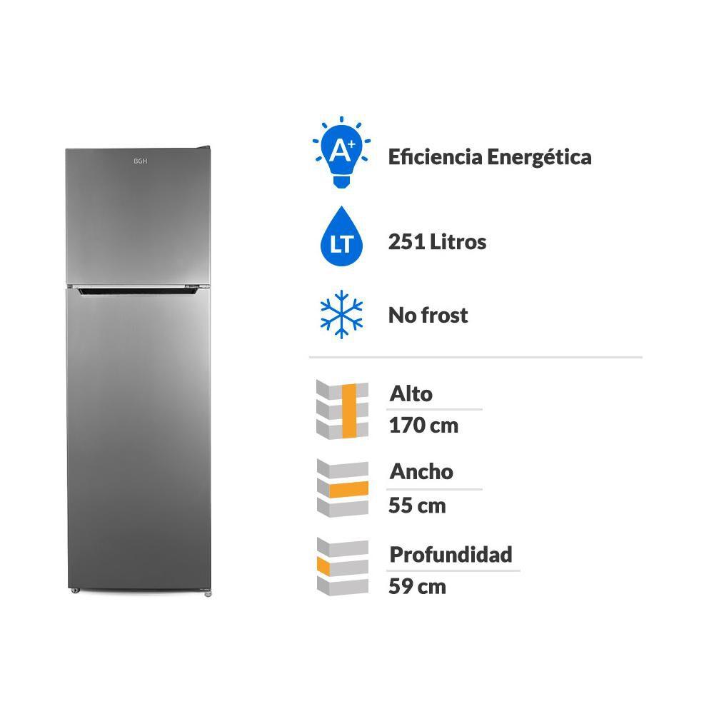 Refrigerador Top Freezer BGH BRVT265 / No Frost / 251 Litros image number 1.0
