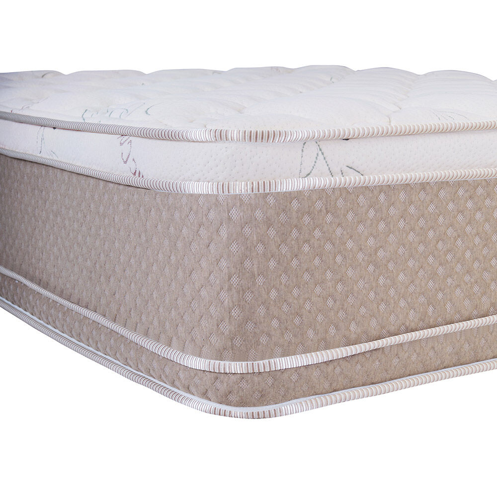 Cama Europea Celta Cotton Organic / 2 Plazas / Base Normal  + Set De Maderas image number 1.0