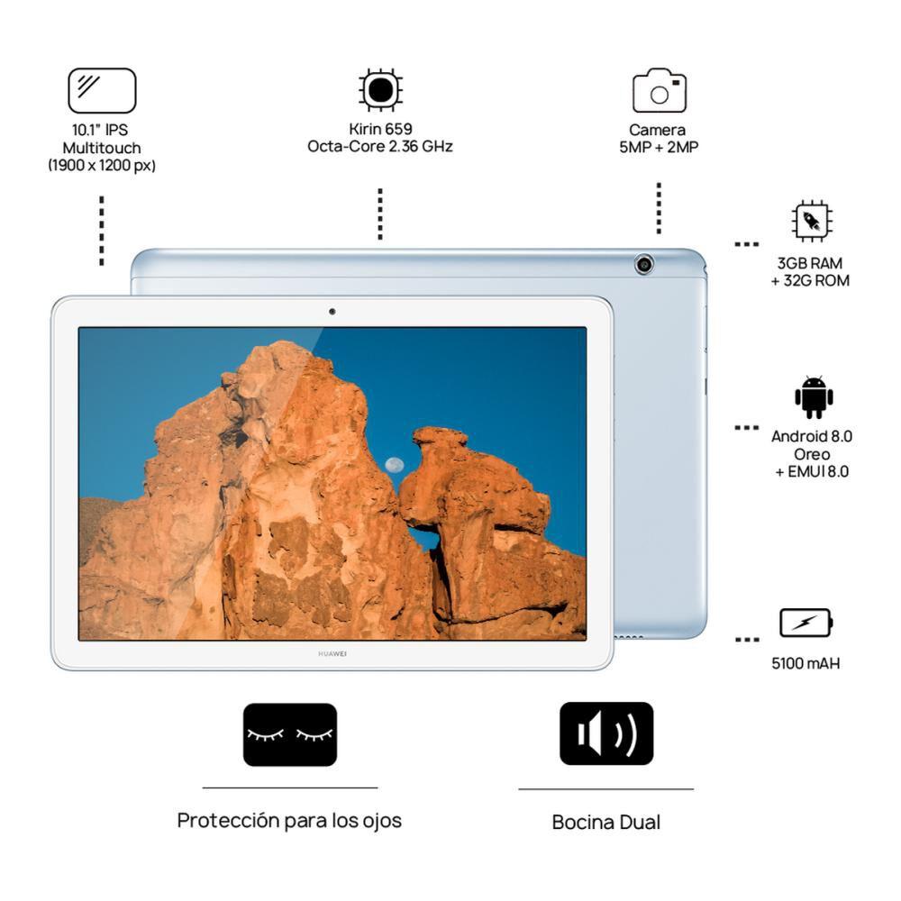 "Tablet Huawei Mediapad T5 / 16 GB / Wifi / Bluetooth / 10.1"" image number 1.0"