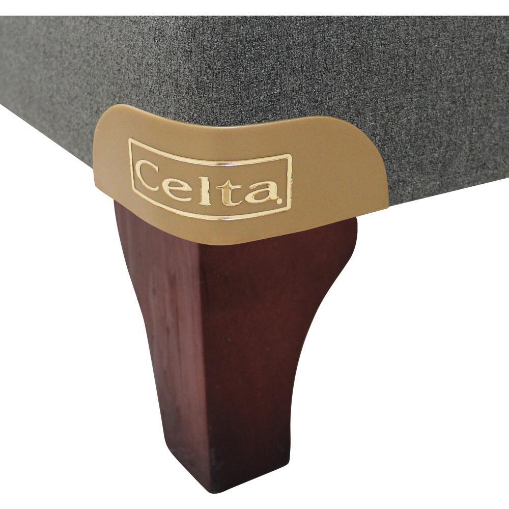 Cama Europea Celta Aloe Vera Pro / 2 Plazas / Base Box Spring Firm image number 2.0