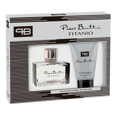 Estuche Titanio Piero Butti / 50 Ml + After Shave 100 Ml / Edt