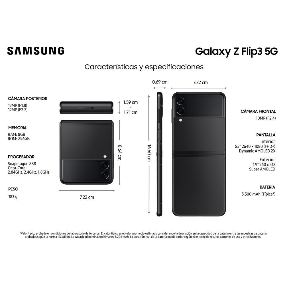 Smartphone Samsung Galaxy Z Flip 3 Negro / 256 Gb / Liberado image number 2.0