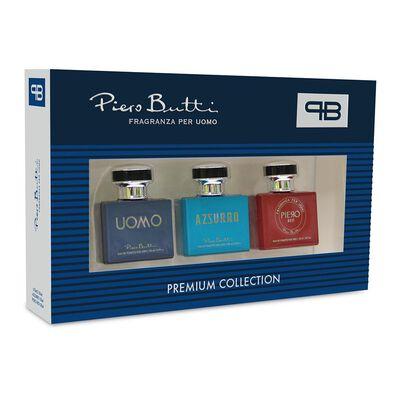 Estuche Miniaturas Piero Butti / 90 Ml / Azzurro + Red + Uomo