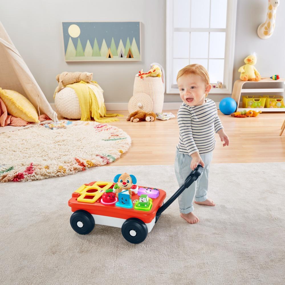 Fisher-price Ríe Y Aprende Juguete Para Bebés Vagón De Aprendizaje De Perrito image number 1.0