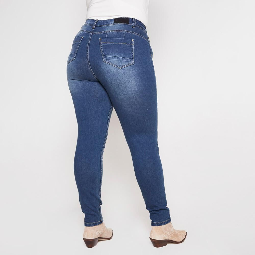 Jeans Tiro Alto Skinny Push Up Mujer Sexy Large image number 2.0
