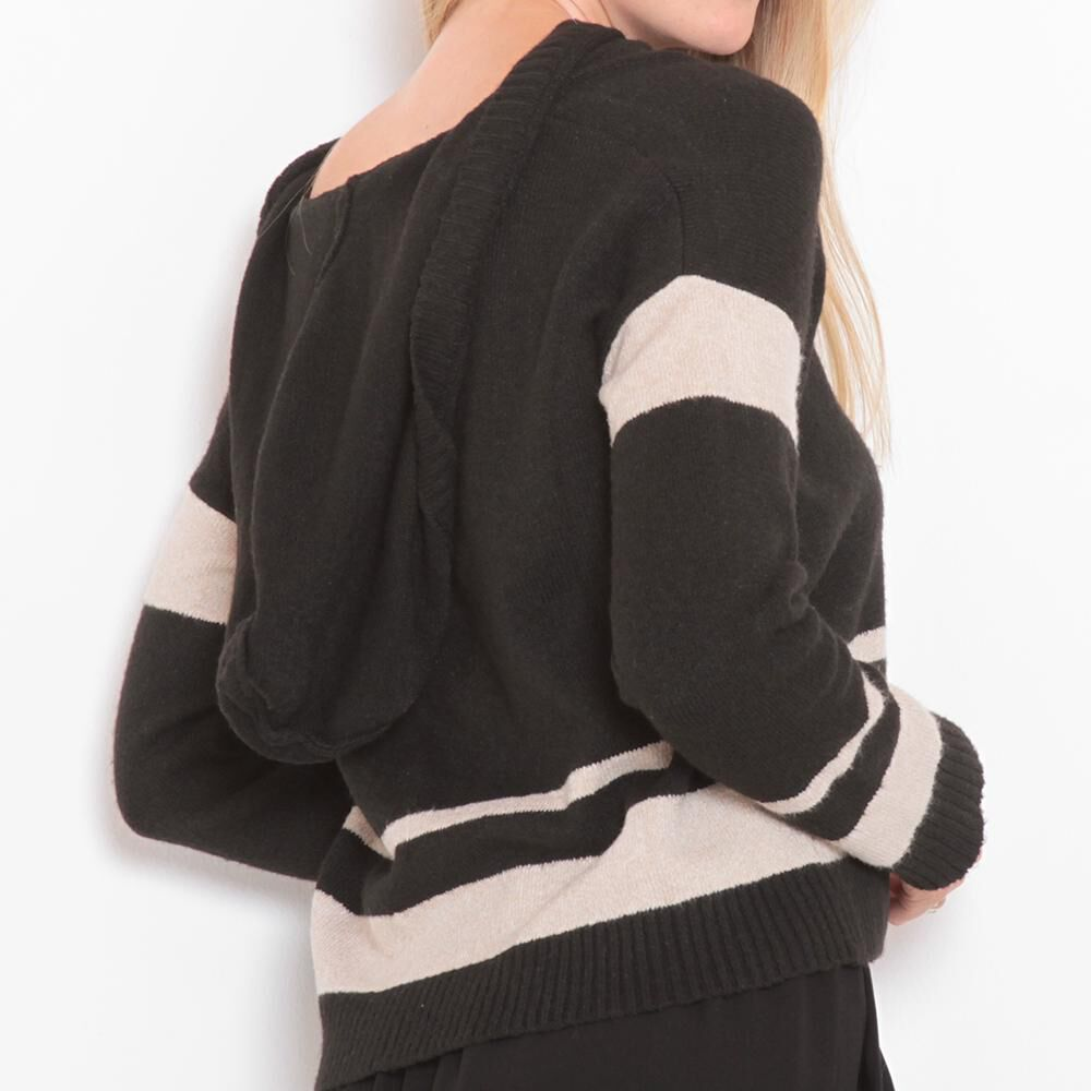 Sweater Rayas Cuello V Mujer Wados image number 1.0