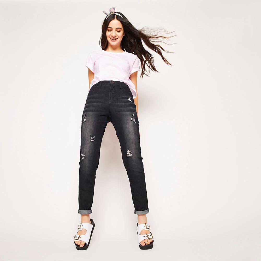 Jeans Rotura Tiro Medio Super Skinny Mujer Freedom image number 1.0