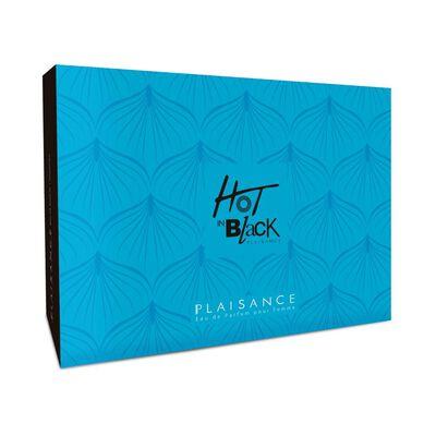 Estuche Fragancia Hot In Black 80 Ml + Miniatura 25 Ml Edp Plaisance