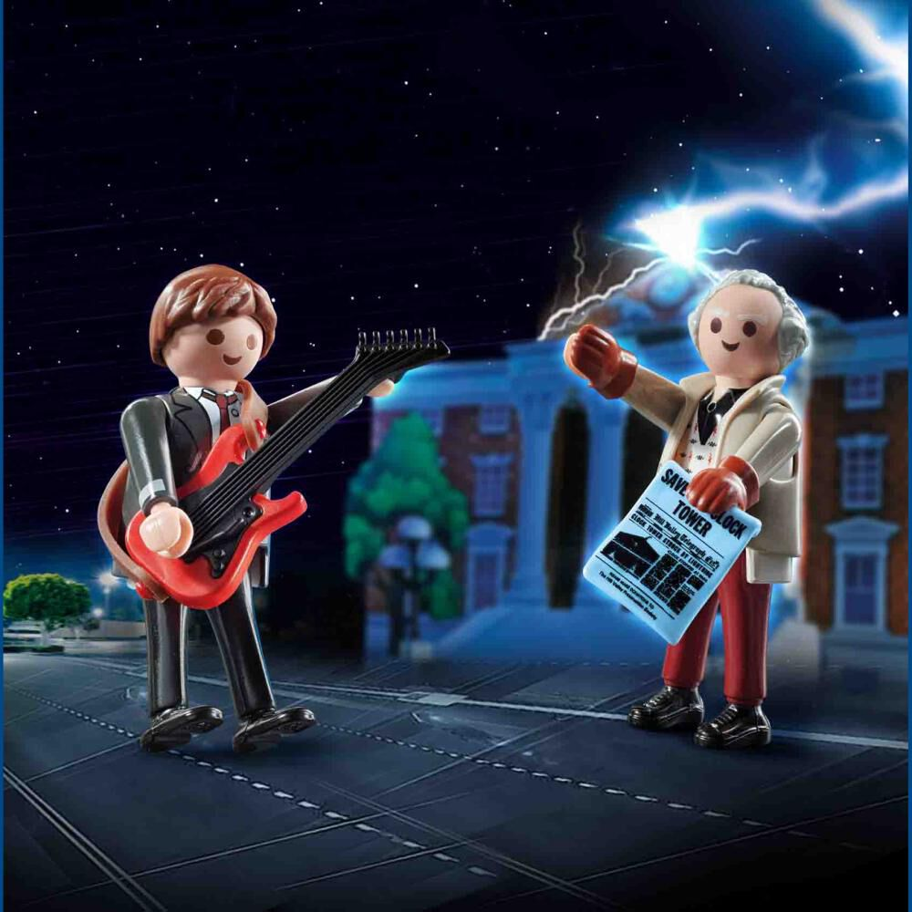 Figura De Acción Playmobil Back To The Future Marty Mcfly And Dr. Emmett Brown image number 2.0