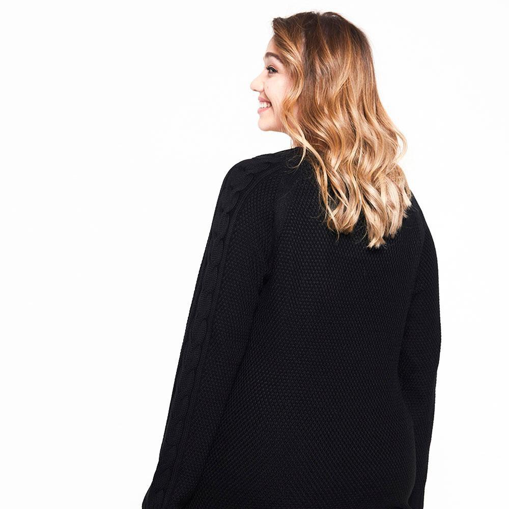 Sweater Trenzado Largo Mujer Sexy Large image number 2.0