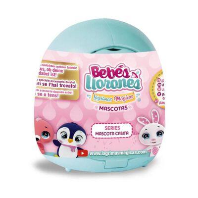 Muñeca Cry Babies Mascotas Casita Celeste
