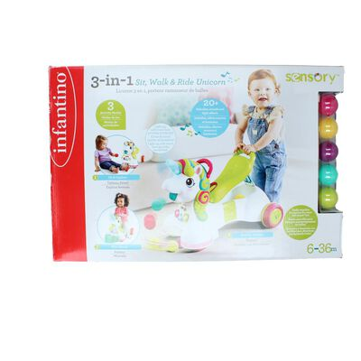 Centro De Actividades Infantino 3 En 1  Sit Walk & Ride Unicorn