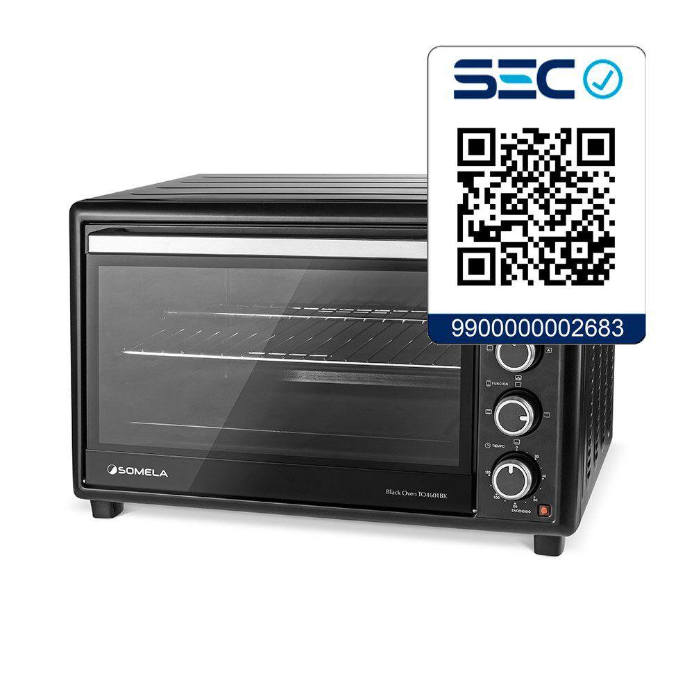 Horno Eléctrico Somela Black Oven To4601Bk / 46 Litros image number 3.0