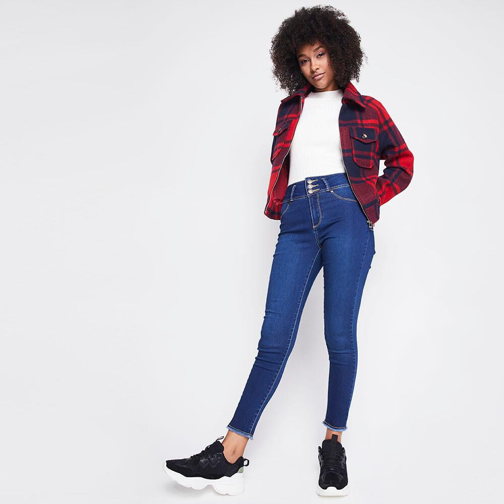 Jeans Mujer Tiro Alto Skinny Push up Rolly go image number 1.0