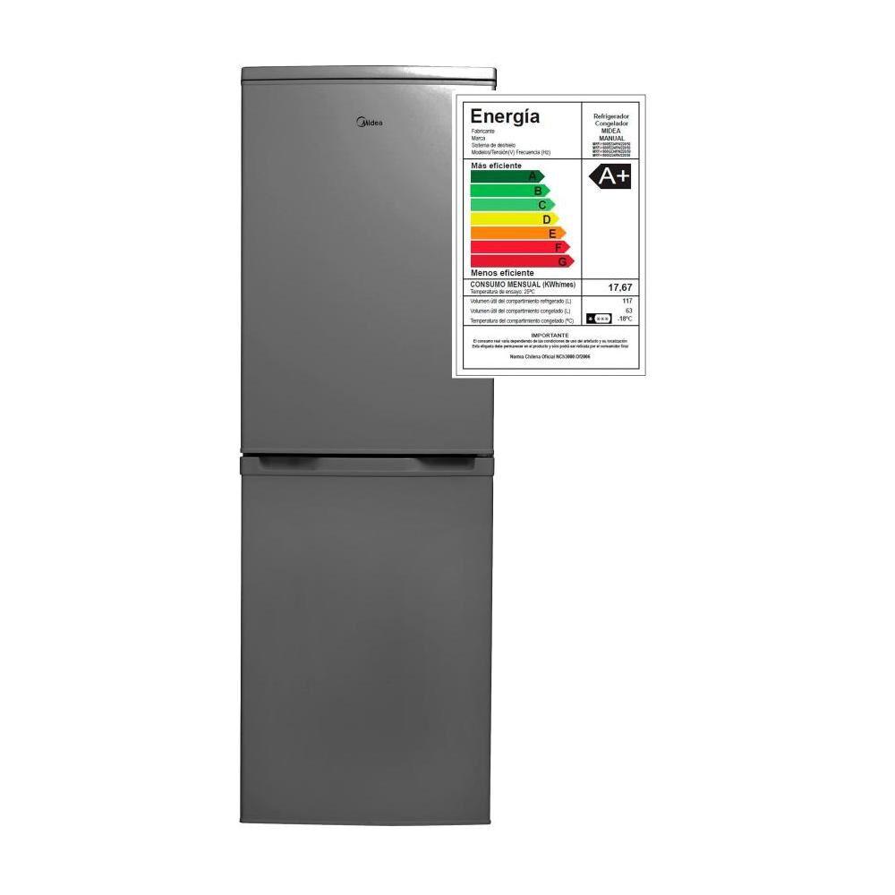 Refrigerador Midea Combi Mrfi-1800S234Rn Silver / Frío Directo / 180 Litros image number 5.0