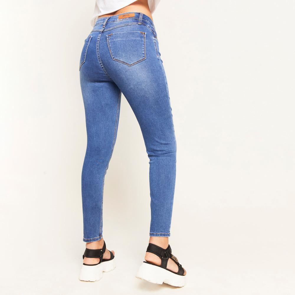 Jeans Básico Tiro Alto Super Skinny Mujer Rolly Go image number 2.0