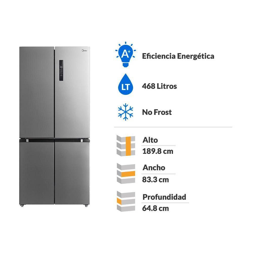 Refrigerador Midea No Frost Mrtt-4790s312fw 468 Litros image number 1.0