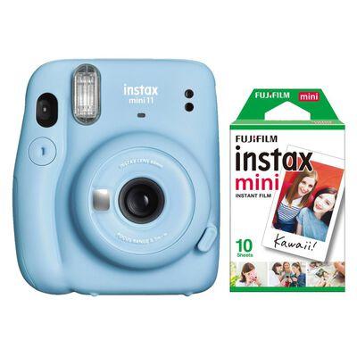 Cámara Instantánea Fujifilm Instax Mini 11 Azul + Película