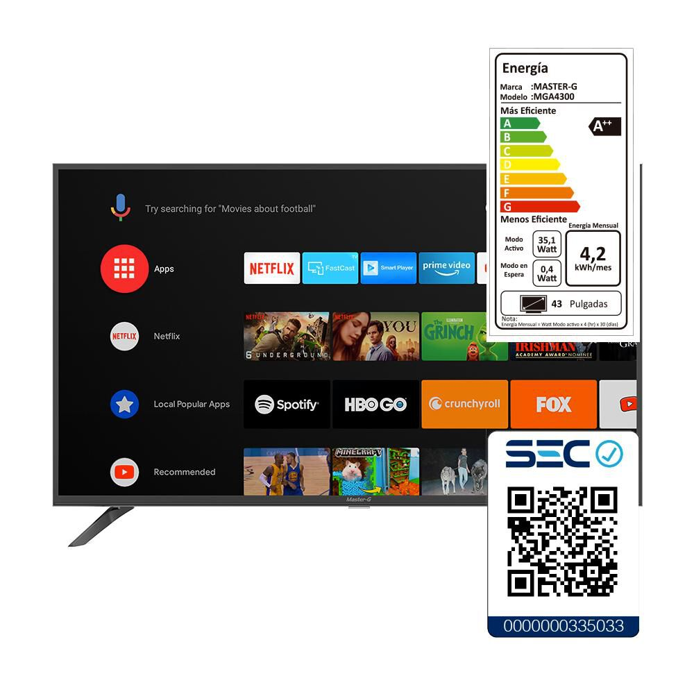 "Led Master G Mga4300 / 43"" / Full Hd / Smart Tv / Android Tv image number 6.0"