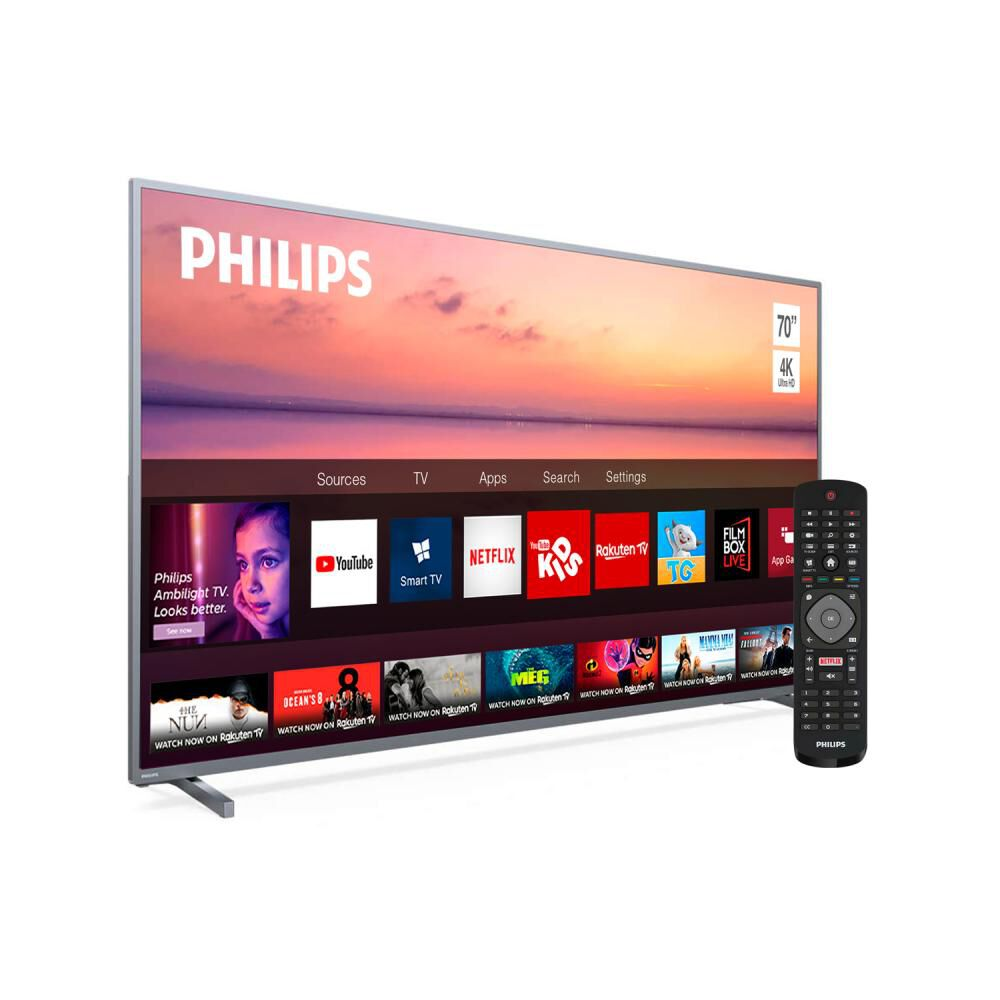 Led Philips Pud6774 / 70'' / Ultra Hd  4k / Smart Tv image number 1.0