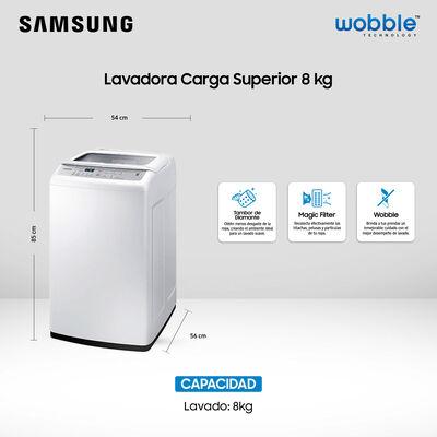 Lavadora Samsung Wa80H4200Sw/Zs / 8 Kilos