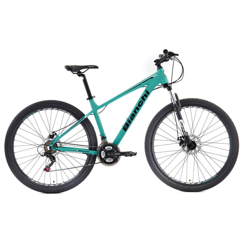 Bicicleta Mountain Bike Bianchi Stone Mountain 29 Sx Alloy Size L Negro Semi Matte / Celeste Bianchi / Aro 29 image number 0.0