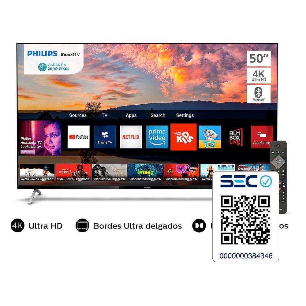 """Led Philips 50PUD7625 / 50"""" / Ultra HD 4k / Smart Tv image number 5.0"""