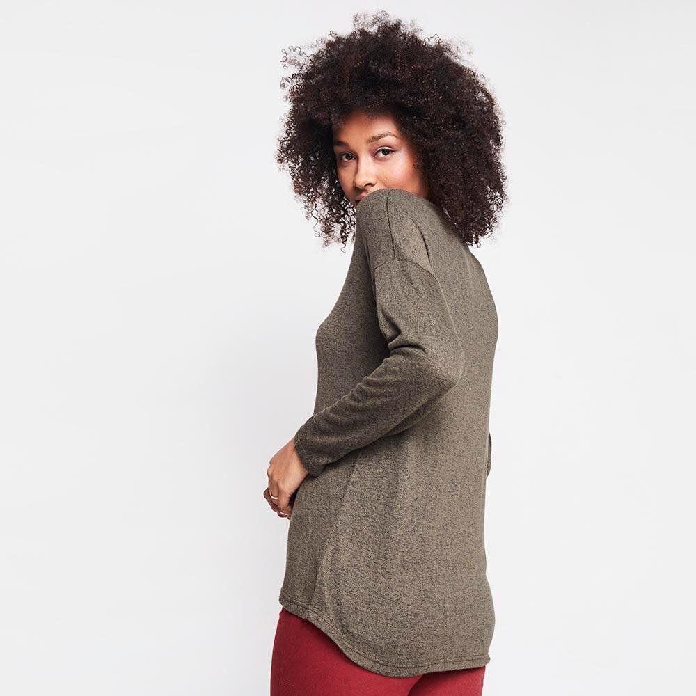 Sweater Jaspeado Largo Mujer Rolly Go image number 2.0