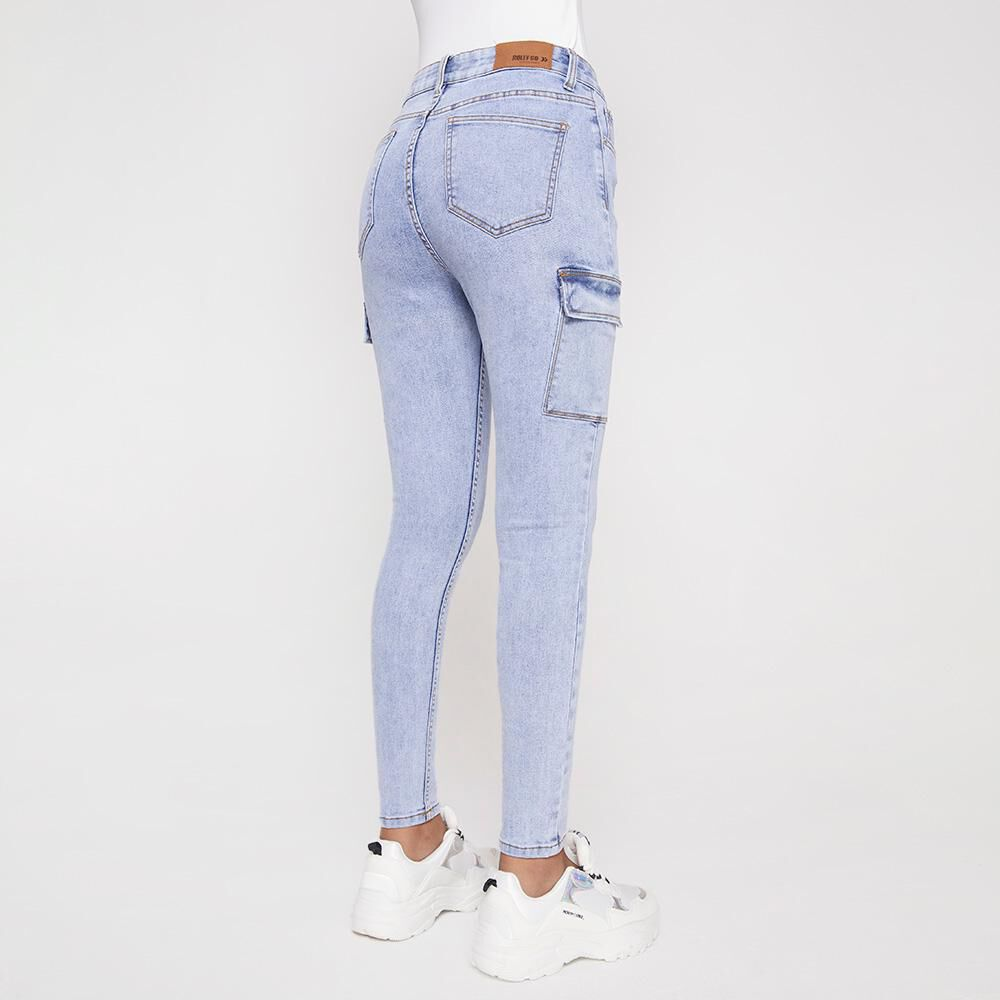Jeans Mujer Tiro Alto Cargo Rolly Go image number 2.0