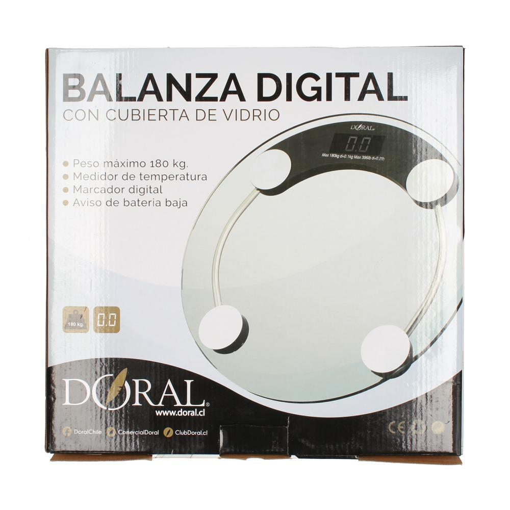 Balanza Digital Doral Cubierta De Vidrio image number 1.0