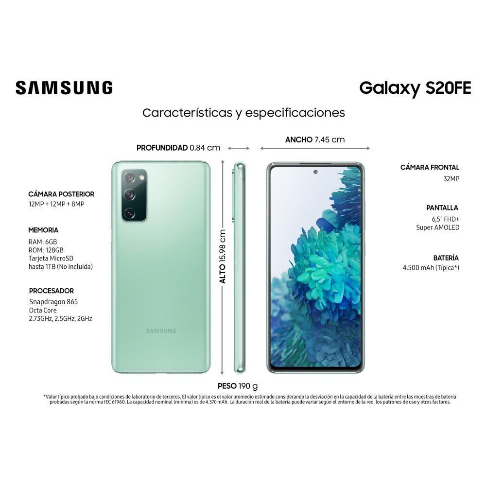 Smartphone Samsung S20fe Verde / 128 Gb / Liberado image number 2.0