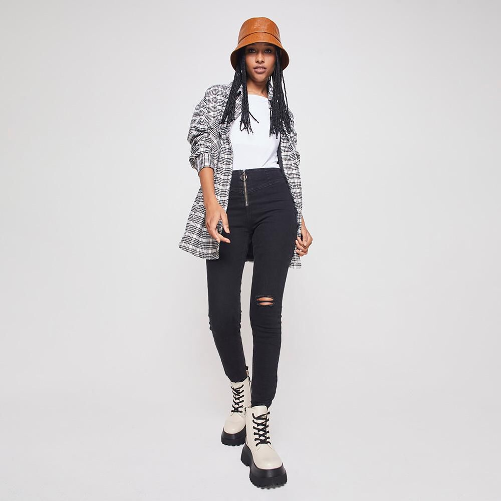 Jeans Mujer Tiro Alto Super Skinny Rolly Go image number 1.0