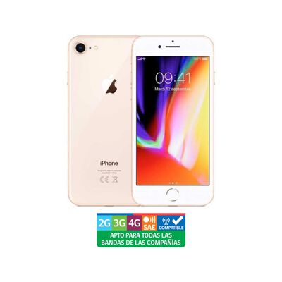 Smartphone Apple Iphone 8 Reacondicionado Oro / 256 Gb / Liberado