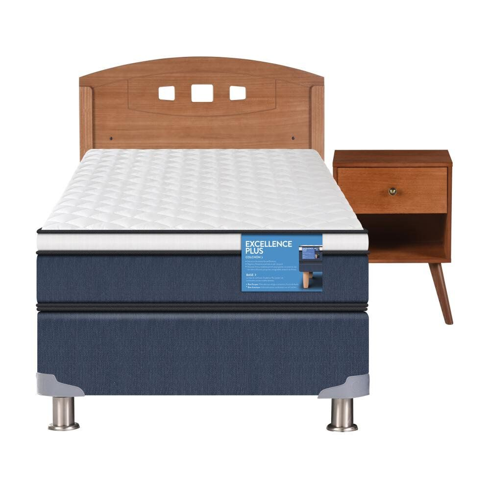 Cama Americana Cic Excellence Plus / 1.5 Plazas / Base Normal  + Set De Maderas image number 0.0
