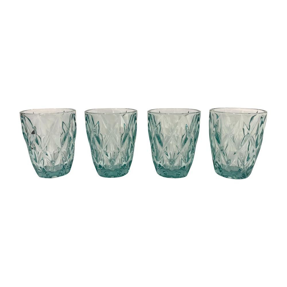 Set De Vasos Belle Noite Aqua / 4 Piezas image number 0.0