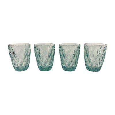 Set De Vasos Belle Noite Aqua / 4 Piezas