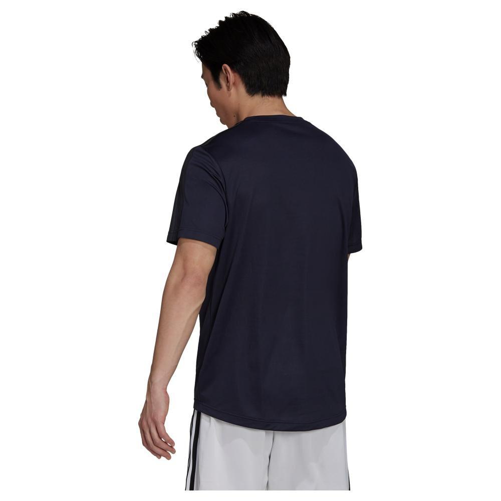 Polera Hombre Adidas Aeroready Designed To Move Sport 3 Bandas image number 4.0