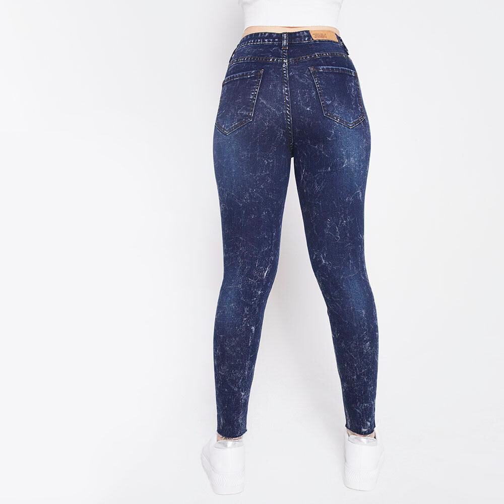 Jeans Tiro Alto Super Skinny Botones Mujer Freedom image number 5.0