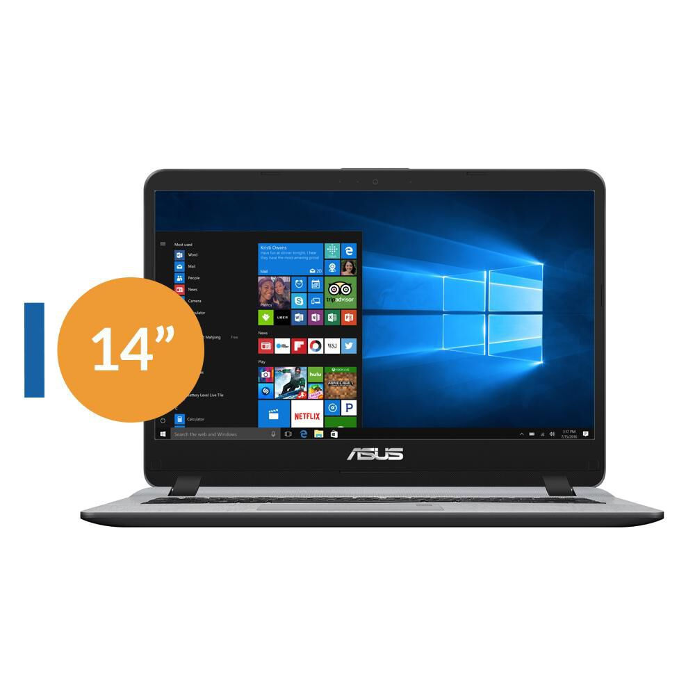 "Notebook Asus X407Ub-Bv219T / Intel Core I3 / 4 GB RAM  / 1 TB DD / 14"" image number 0.0"