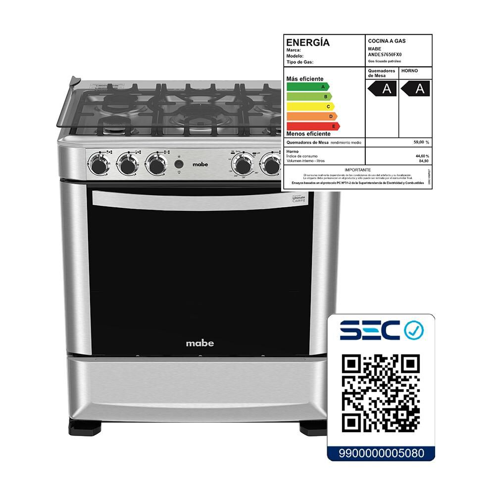 Cocina Mabe Andes 7650FX0 / 5 Quemadores image number 7.0