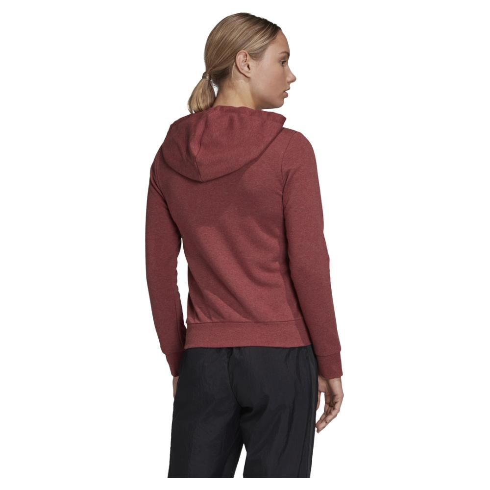Poleron Deportivo Mujer Adidas Essentials Linear Full Zip image number 3.0